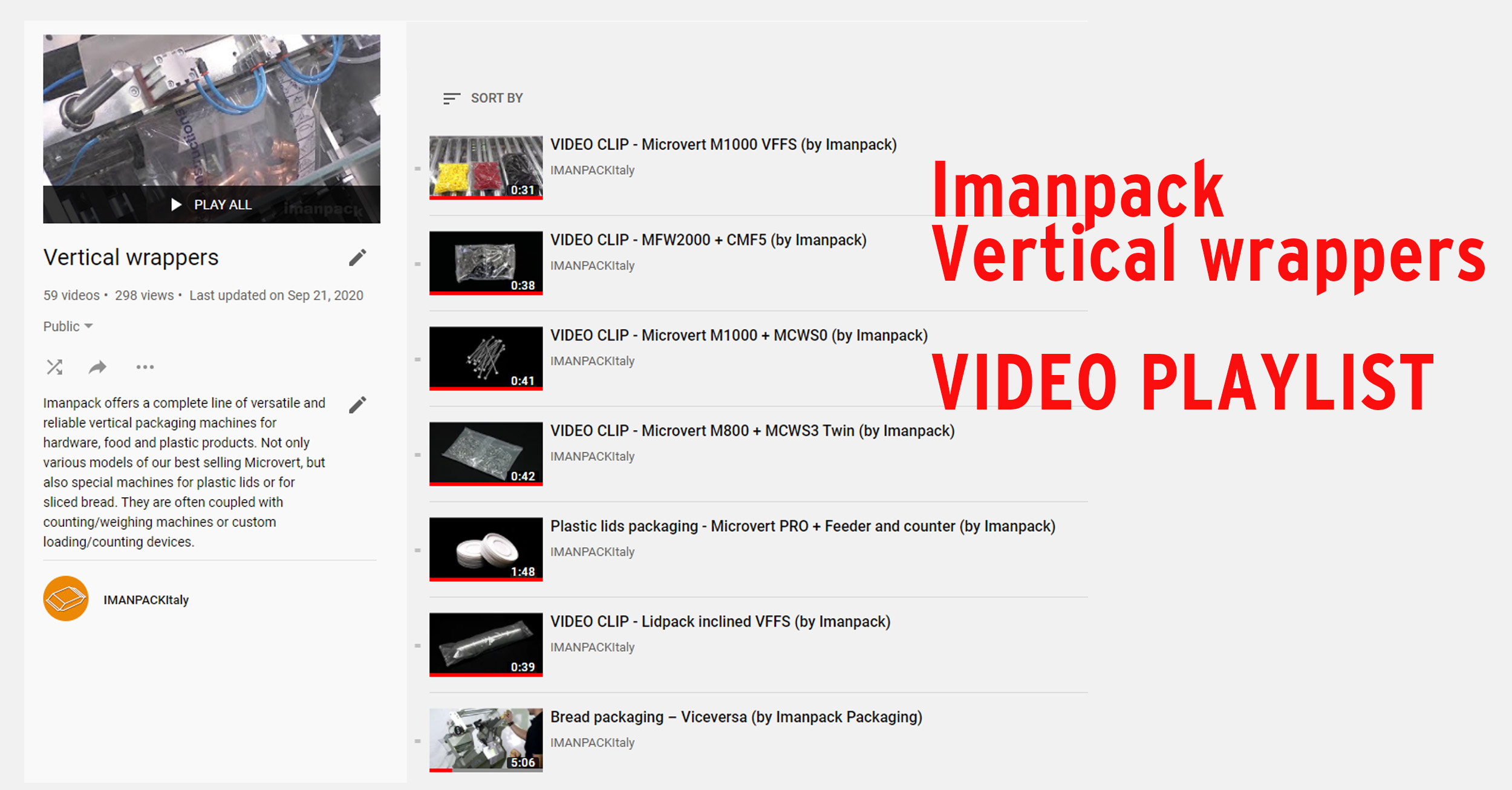 Vertical Wrapper VIDEO Playlist at our YouTube Channel