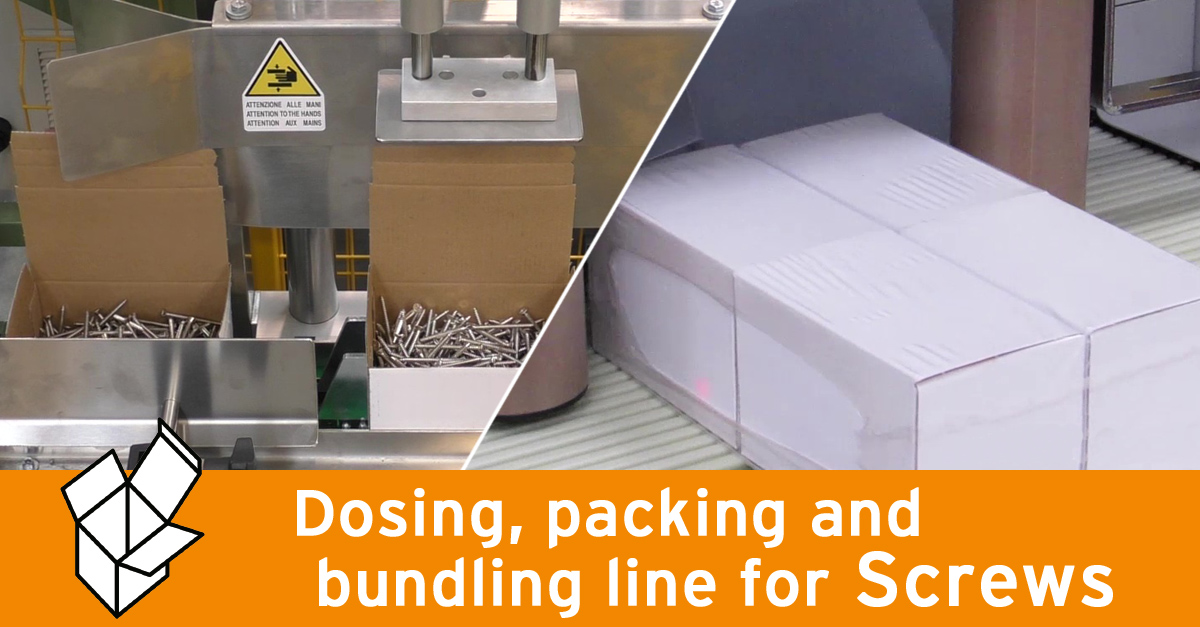 Video - Weighing and packing line for screws