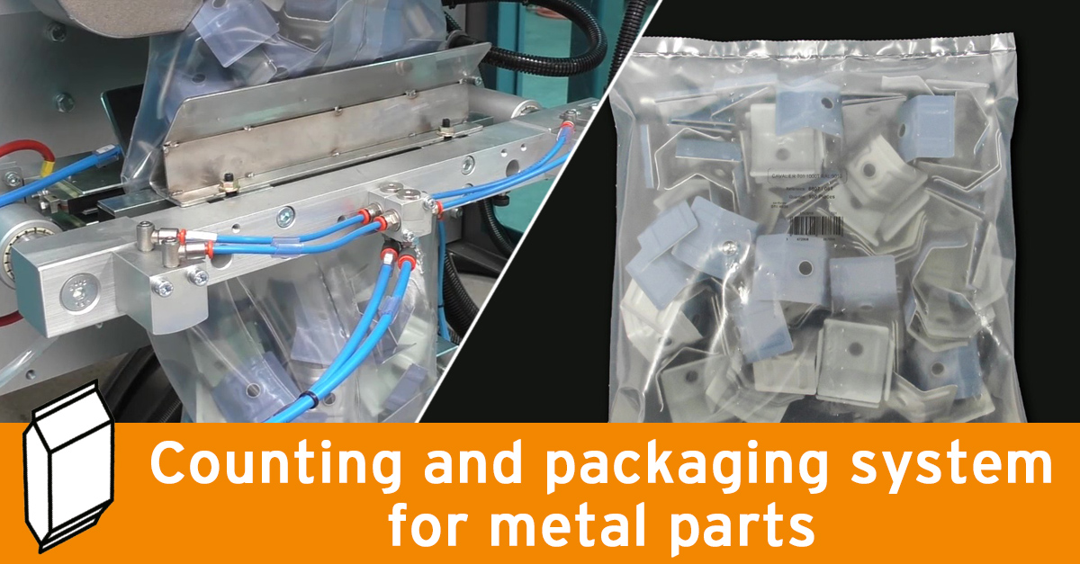 Video - Vertical packaging machine for metal parts