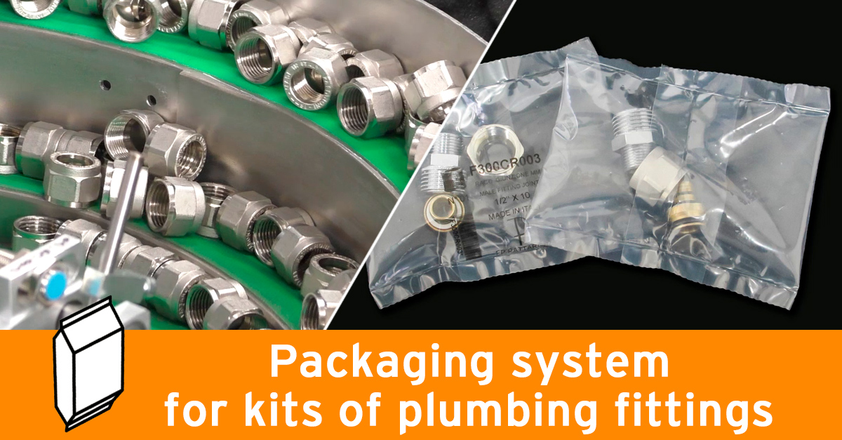 Video - Packaging line for plumbing fittings kits