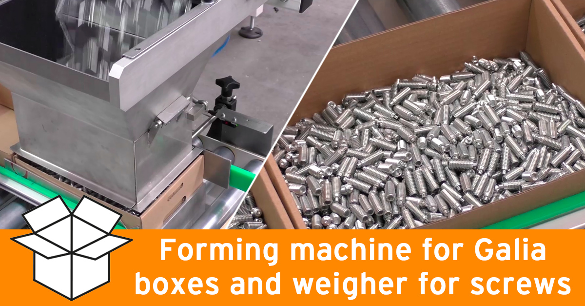 Video - Packaging line for screws in Galia boxes