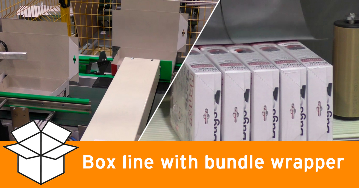 Video - Box line with bundle wrapper