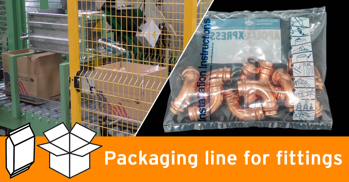 Video - Inclined packaging machine for fittings