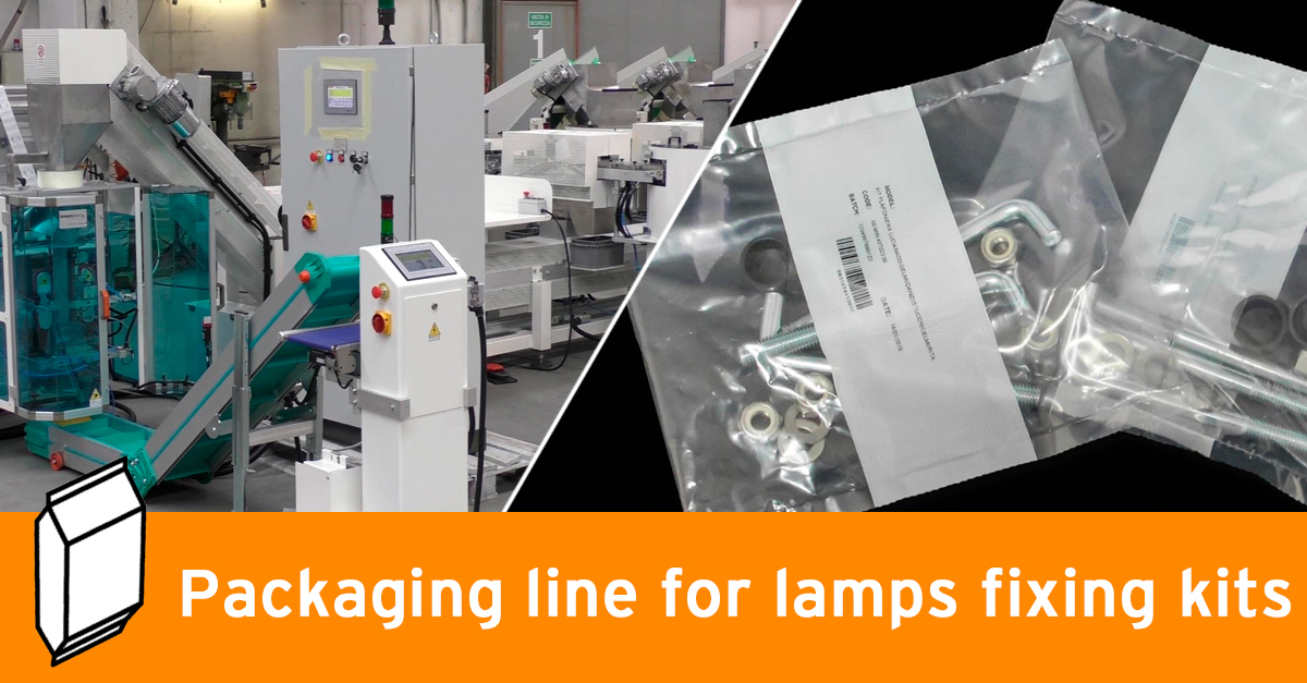 Video - Packaging line for lamps fixing kits