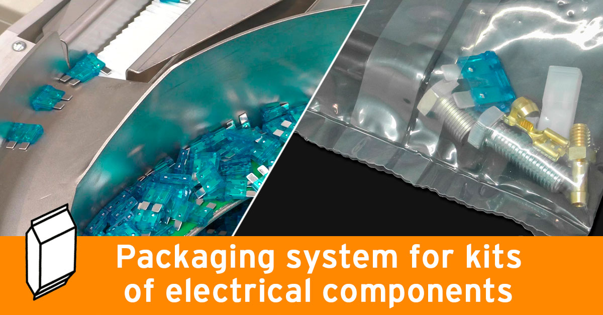 Packaging system for kits of electrical components