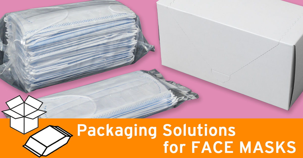 Packaging solutions for face masks