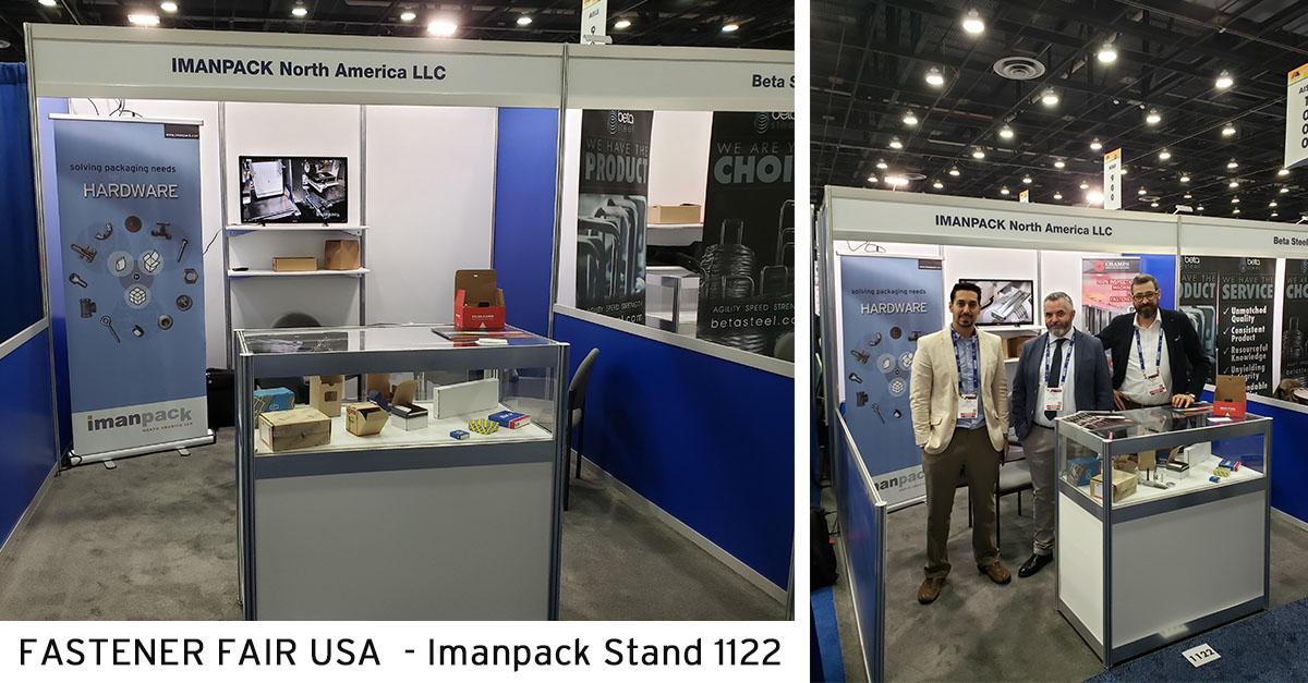 Imanpack North America Stand at FASTENER FAIR USA - the show is open