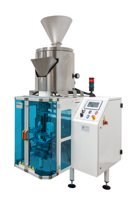 Vertical packaging machine feeding accessory